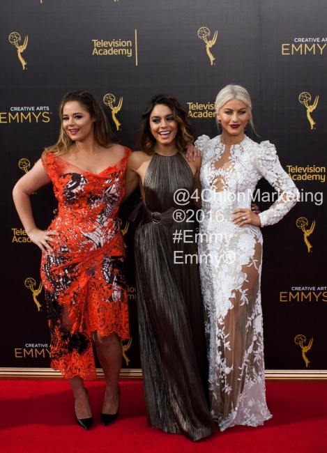 Vanessa Anne Hudgen Julianne Hough Kether Donohue Red Carpet Emmys 4Chion Marketing