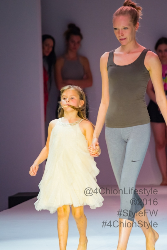 Katana Upton checking out the runway