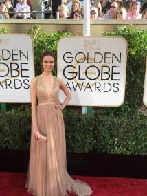 Egith van Dinther Golden Globes Red Carpet