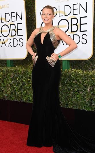 Blake Lively Golden Globes Red Carpet