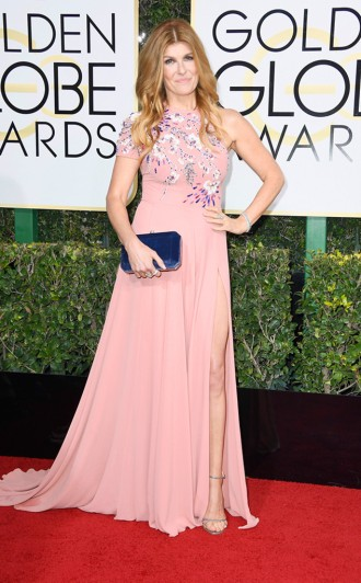 Connie Britton Golden Globes Red Capret