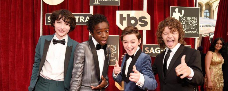 Gaten Matarazzo, Caleb McLaughlin, and Finn Wolfhard Stranger Things SAG Awards