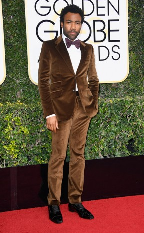 Donald Glover Gucci Golden Globes Year of the Beard