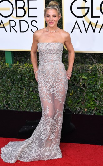 ELSA PATAKY Zuhair Murad Golden Globes Red Carpet