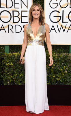 Felicity Huffman Golden Globes Red Carpet