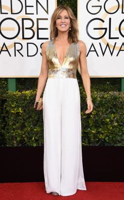 Felicity Huffman Golden Globes Red Carpet