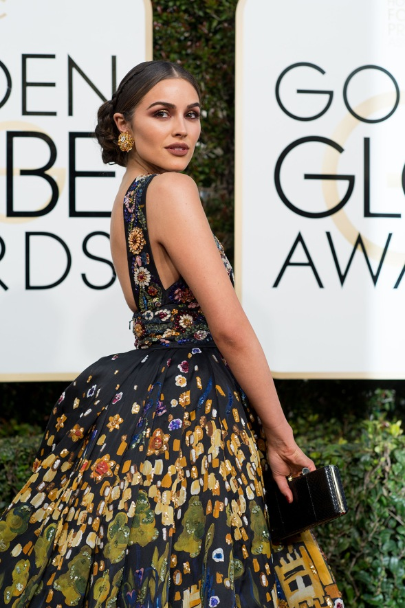 Olivia Culpo attends the 74th Annual Golden Globe Awards at the Beverly Hilton in Beverly Hills, CA on Sunday, January 8, 2017.