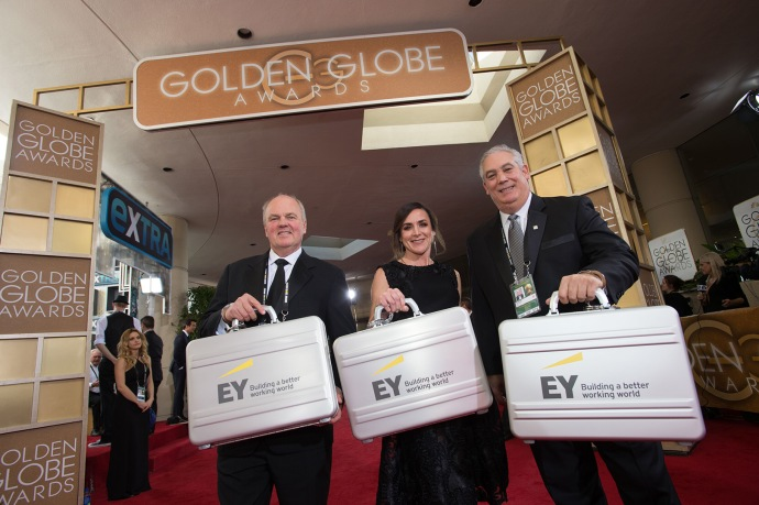Accountants from EY attend the 74th Annual Golden Globe Awards at the Beverly Hilton in Beverly Hills, CA on Sunday, January 8, 2017.