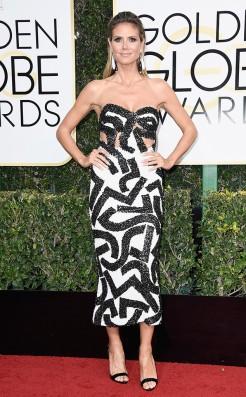 Heidi Klum Golden Globes Red Carpet