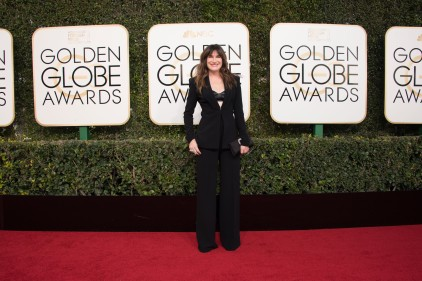 Pant Suits on the red carpet at the Golden Globes.