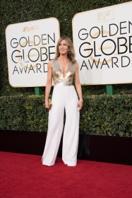 Felicity Huffman Pant Suits on the red carpet at the Golden Globes.
