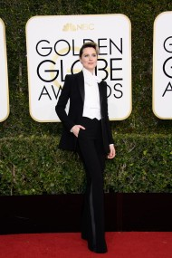 EVAN RACHEL WOOD Pant Suits on the red carpet at the Golden Globes.
