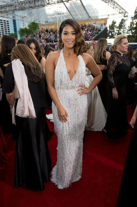 "Nominated for BEST PERFORMANCE BY AN ACTRESS IN A TELEVISION SERIES – COMEDY OR MUSICAL for her role in ""Jane the Virgin,"" actress Gina Rodriguez attends the 74th Annual Golden Globes Awards at the Beverly Hilton in Beverly Hills, CA on Sunday, January 8, 2017."