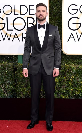 Justin Timberlake Golden Globes Red Carpet