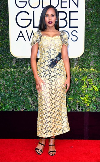 Kerry Washington Golden Globes Red Carpet