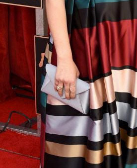 Mayim Bialik clutch styling SAG Awards 4Chion Lifestyle