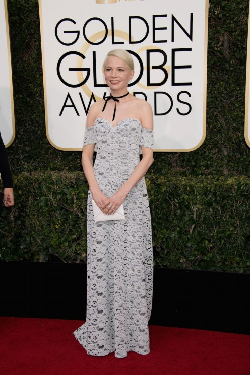 "Nominated for BEST PERFORMANCE BY AN ACTRESS IN A SUPPORTING ROLE IN A MOTION PICTURE for her role in ""Manchester by the Sea,"" actress Michelle Williams attends the 74th Annual Golden Globes Awards at the Beverly Hilton in Beverly Hills, CA on Sunday, January 8, 2017."