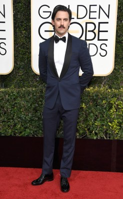 Milo Ventimiglia Golden Globes Red Carpet