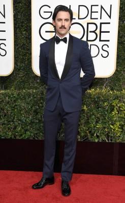 Milo Ventimiglia Golden Globes Red Carpet