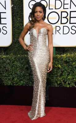 Naomi Harris Golden Globe Red Carpet