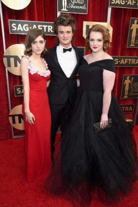 Natalia Dyer, Joe Keery and Shannon Purser