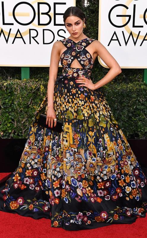 Olivia Culpo Zuhair Murad Golden Globes Red Carpet