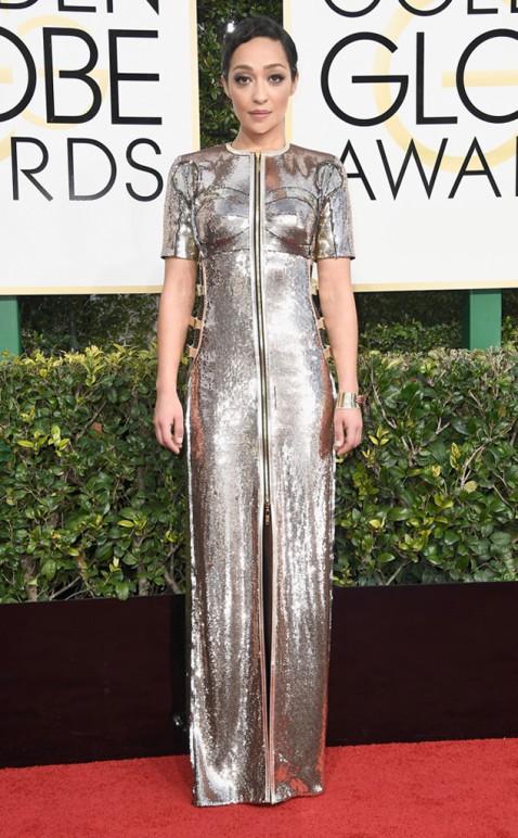 Ruth Negga Golden Globes Red Carpet