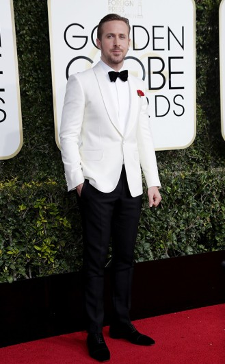 Ryan Goosling Gucci Golden Globes Year of the Beard