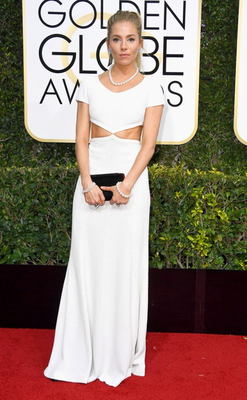 Sienna Miller Golden Globes Red Carpet