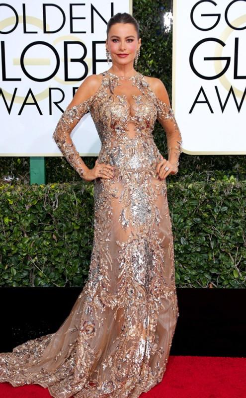 Sofia Vergara Zuhair Murad Golden Globes Red Carpet