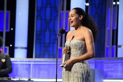 "Tracee Ellis Ross accepts the Golden Globe Award for BEST PERFORMANCE BY AN ACTRESS IN A TELEVISION SERIES – COMEDY OR MUSICAL for her role in ""Black-ish"" at the 74th Annual Golden Globe Awards at the Beverly Hilton in Beverly Hills, CA on Sunday, January 8, 2017."