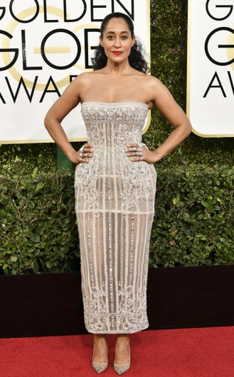Tracee Ellis Ross Zuhair Murad Golden Globes Red Carpet