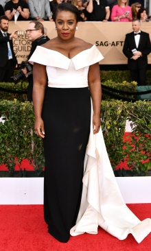 Uzo Aduba Elizabeth Kennedy gown and Lorraine Schwartz jewels SAG Awards 4Chion Lifestyle