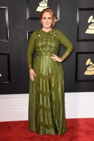 Adele Grammys Red Carpet