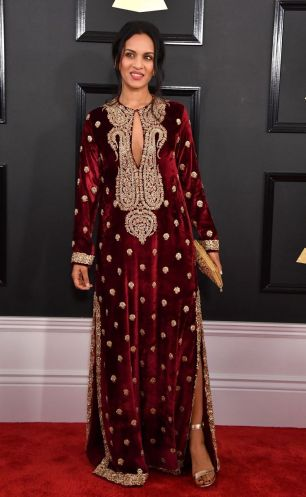 Anoushka Shankar red carpet Grammys