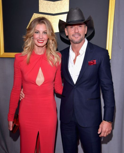 Faith Hill and Tim McGraw Grammys red carpet
