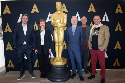 "From left: Director of the Oscar® nominated foreign film ""Land of Mine"", Martin Zandvliet; director of the Oscar® nominated foreign film ""Toni Erdmann"", Maren Ade; director of the Oscar® nominated foreign film ""A Man Called Ove"", Hannes Holm; and directors of the Oscar® nominated foreign film ""Tanna"", Bentley Dean and Martin Butler during the Academy of Motion Picture Arts and Sciences' Oscar Week: Foreign Language Films event on Saturday, February 25, 2017 at the Samuel Goldwyn Theater in Beverly Hills. The Oscars® will be presented on Sunday, February 26, 2017, at the Dolby Theatre® in Hollywood, CA and televised live by the ABC Television Network."