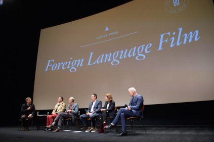 "From left: Host Academy Governor Mark Johnson; directors of the Oscar® nominated foreign film ""Tanna"", Bentley Dean and Martin Butler; director of the Oscar® nominated foreign film ""Land of Mine"", Martin Zandvliet; director of the Oscar® nominated foreign film ""Toni Erdmann"", Maren Ade and director of the Oscar® nominated foreign film ""A Man Called Ove"", Hannes Holm during the Academy of Motion Picture Arts and Sciences' Oscar Week: Foreign Language Films event on Saturday, February 25, 2017 at the Samuel Goldwyn Theater in Beverly Hills. The Oscars® will be presented on Sunday, February 26, 2017, at the Dolby Theatre® in Hollywood, CA and televised live by the ABC Television Network."