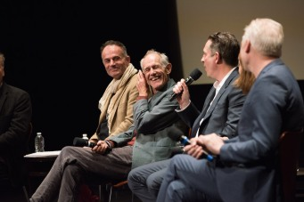 "From left: Directors of the Oscar® nominated foreign film ""Tanna"", Bentley Dean and Martin Butler; director of the Oscar® nominated foreign film ""Land of Mine"", Martin Zandvliet; and director of the Oscar® nominated foreign film ""A Man Called Ove"", Hannes Holm during the Academy of Motion Picture Arts and Sciences' Oscar Week: Foreign Language Films event on Saturday, February 25, 2017 at the Samuel Goldwyn Theater in Beverly Hills. The Oscars® will be presented on Sunday, February 26, 2017, at the Dolby Theatre® in Hollywood, CA and televised live by the ABC Television Network."