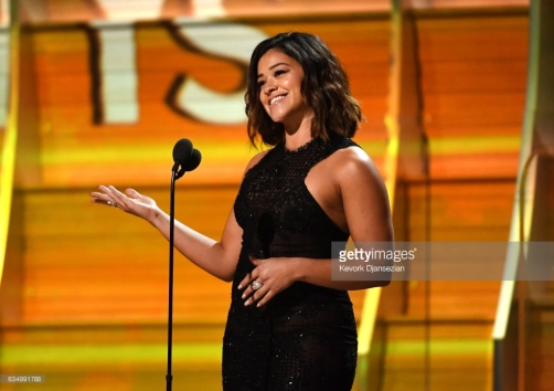 Gina Rodriguez Hearts on Fire L'Dezen by Payal Shah Grammys