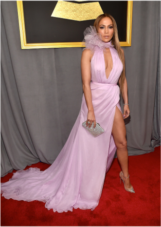 Jennifer Lopez Grammys Red Carpet