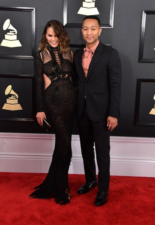 John Legend Chrissy Teigen Grammys Red Carpet 4Chion Lifestyle