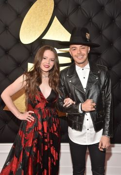 Joy Huerta Grammys Red Carpet