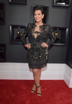 Kris Kardashian Red Carpet Grammys