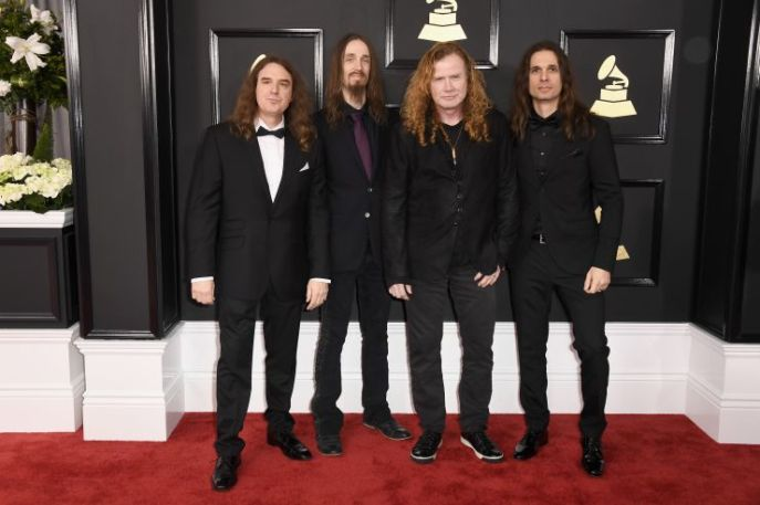 Megadeth red carpet Grammys