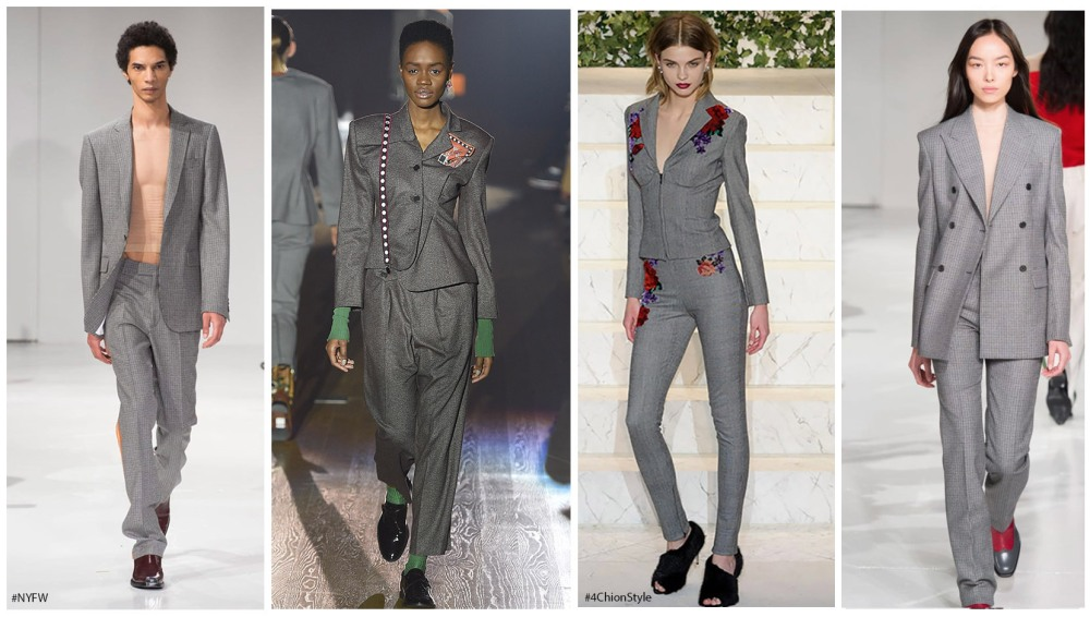 Grey Suits NYFW Fashion FW 17 4Chion Lifestyle