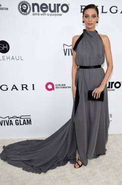 Angela Sarafyan wore Doves by Doron Paloma Jewels Annual Elton John AIDS Foundation's Academy Awards Party
