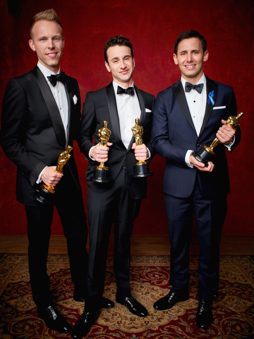 "Winning the category Achievement in music written for motion pictures (Original song) for ""City of Stars"" from ""La La Land"", Lyrics by Benj Pasek and Justin Paul, Score By Justin Hurwitz during the live ABC Telecast of The 89th Oscars® at the Dolby® Theatre in Hollywood, CA on Sunday, February 26, 2016."