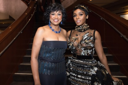 Academy President Cheryl Boone Isaacs with Jenelle Monae at The 89th Oscars® at the Dolby® Theatre in Hollywood, CA on Sunday, February 26, 2017.