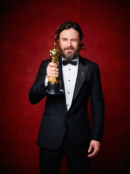"Casey Affleck poses backstage with the Oscar® for Performance by an actor in a Leading role, for work on ""Manchester by the Sea"" during the live ABC Telecast of The 89th Oscars® at the Dolby® Theatre in Hollywood, CA on Sunday, February 26, 2016."